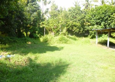 land close to the beach in central lovina
