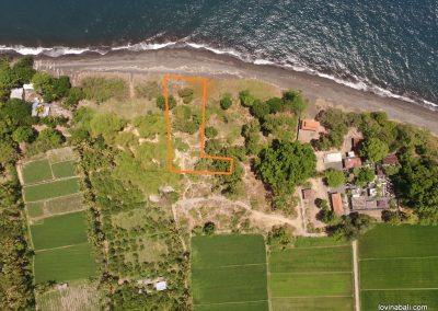 Beachfront land 20 minutes east Singaraja (plot 1) (LISTING:LVP0162)