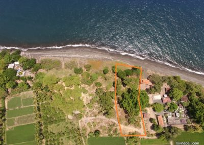 Beachfront land 20 minutes east Singaraja (plot 3) (LISTING:LVP0182)