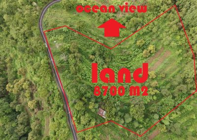 ocean view land for sale 40 minutes drive to Lovina