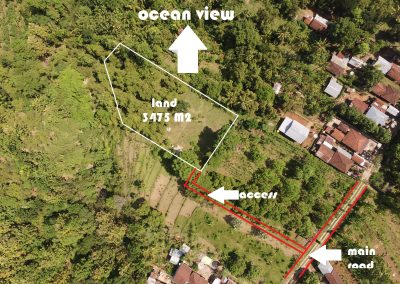 land for sale with ocean view in lovina hills